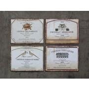 Creative Co-Op Sonoma Vintage Wine Labels 4 Piece Textual Plaque Set (Set of 4)