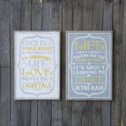 Creative Co-Op Urban Homestead Life Message 2 Piece Textual Plaque Set (Set of 2)