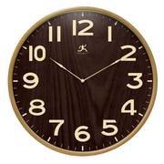 Infinity Instruments 12.5'' Arbor Wall Clock; Dark Wood