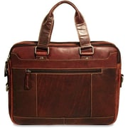 Jack Georges Voyager Double Entry Top Zip Briefcase; Brown