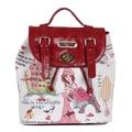 Nicole Lee Shopping Girl Print Backpack
