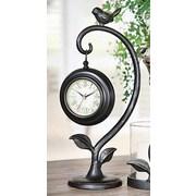 Creative Co-Op Bird Swinging Clock