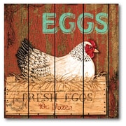 Courtside Market Farmhouse Canvas Fresh Eggs Graphic Art on Wrapped Canvas