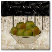 Courtside Market Farmhouse Canvas Grannysmith Apples Graphic Art on Wrapped Canvas
