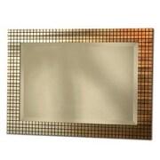Nova Bronze Grid Wall Mirror