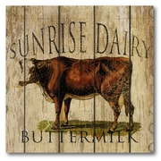Courtside Market Farmhouse Canvas Sunrise Dairy Buttermilk Gallery Wrapped Canvas