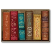 Courtside Market Farmhouse Canvas Books of Love Framed Graphic Art