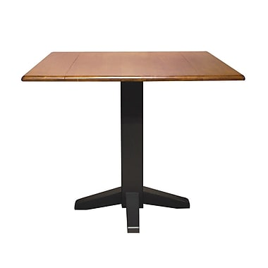 square dual drop leaf 36 39 39 extentable dining table black cherry