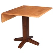 International Concepts Square Dual Drop Leaf 36'' Extentable Dining Table; Cinnamon/Espresso