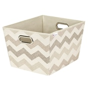 Macbeth Collection Textured Chevron Grommet Tote; Large