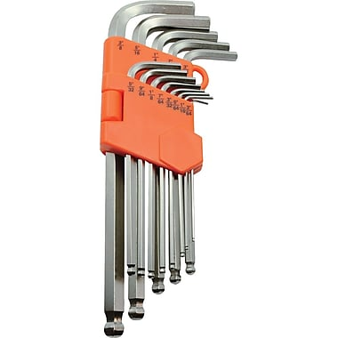 Dynamic Tools 13 Piece SAE Ball End Long Hex Key Set, 3/64