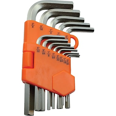 Dynamic Tools 13 Piece SAE Regular Hex Key Set, 3/64