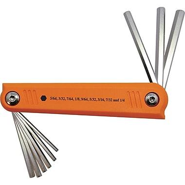 Dynamic Tools 9 Piece SAE Folding Hex Key Set, 5/64