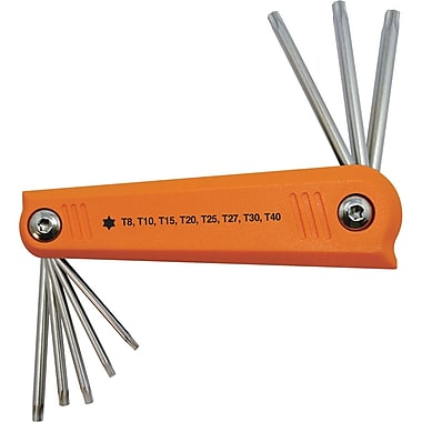 Dynamic Tools 8 Piece Torx® Folding Hex Key Set, T8 - T40