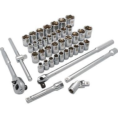 Dynamic Tools – Ensemble de 41 pièces, 6 pans standards, à prise de 1/2 po, SAE/métriques, 3/8 po à 1 15/16 po, 10 mm à 28 mm