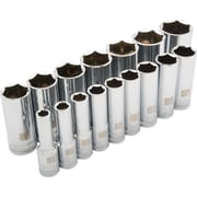Dynamic Tools – Ensemble de 16 douilles SAE 6 pans profondes, à prise de 1/2 po, 3/8 po à 1 5/16 po
