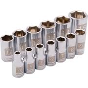 Dynamic Tools – Ensemble de 13 pièces, 6 pans métriques standards, à prise de 1/4 po, 4 mm à 15 mm