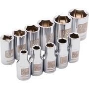 Dynamic Tools – Ensemble de 11 pièces, douilles 6 pans SAE standards, à prise de 1/4 po, 5/32 po à  9/16 po