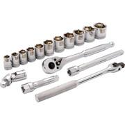 Dynamic Tools – Ensemble de 16 pièces, douilles 6 pans SAE standards, à prise de 3/8 po, 3/8 po à 1 po