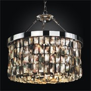 Glow Lighting Mailbu 6-Light Drum Chandelier