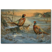 WGI GALLERY Winter Colors Painting Print on Wood; 16'' H x 24'' W x 1'' D