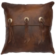 Wooded River Painted Desert II Leather Throw Pillow