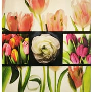 Quest Products Inc Flower Grid Original Painting on Wrapped Canvas