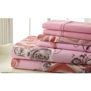 Spirit Palazzo Home Sheet Set in Pink & Gray; Queen