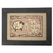 Craft Outlet The Simple Life Framed Textual Art