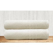 Colonial Textiles Solid Bath Towel (Set of 2); White