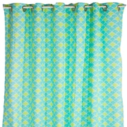 Pam Grace Creations Aqua Peacock Cotton Shower Curtain