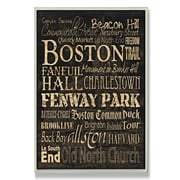 Stupell Industries Boston Typography Rectangle Wall Plaque; 16'' H x 20'' W x 0.5'' D