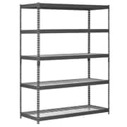 Edsal-Sandusky 78'' H Steel Five Shelf Heavy Duty Shelving Unit; 78'' H x 60'' W x 24'' D