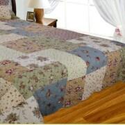 J&J Bedding Patchwork Square Quilt; King