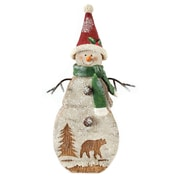 Blossom Bucket Snowman with Woods Decor Figurine