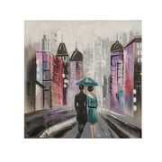 Quest Products Inc Street Scene Original Painting on Wrapped Canvas