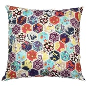 A1 Home Collections LLC Potpourri Hexagon Patchwork Cotton Throw Pillow