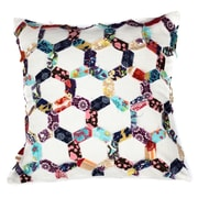 A1 Home Collections LLC Potpourri Hexagon Honeycomb Patchwork Cotton Throw Pillow