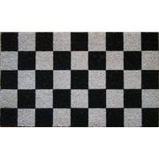 A1 Home Collections LLC Tufted Check Doormat