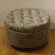 HomePop Round Storage Ottoman