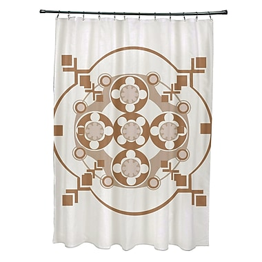 e by design moroccan medley geometric shower curtain off white brown staples. Black Bedroom Furniture Sets. Home Design Ideas