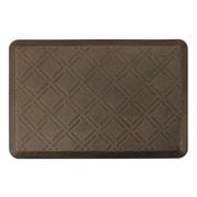 "Smart Step® Designer Antique™ Morie Polyurethane Anti-Fatigue Mat, 36"" x 24"", Dark Antique"
