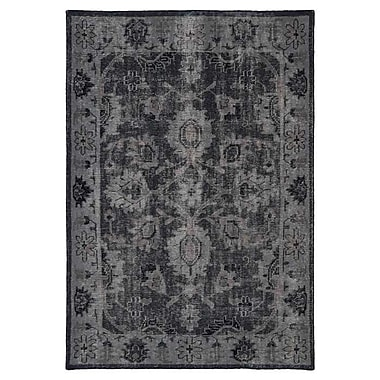 Kaleen Restoration Black Area Rug; 2' x 3'