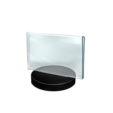 Azar Displays 2-Sided Round Base Sign Holder, 5.5