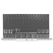 Azar Pegboard Organizer Kit Black 24 x 48-inch Each