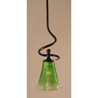 Toltec Lighting Capri Stem Mini Pendant w/ Hang Straight Swivel; Kiwi Green