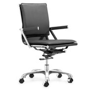 dCOR design Lider Plus Mid-Back Office Chair; Black