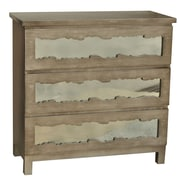 Crestview Claiborne 3 Drawer Chest w/ Mirror