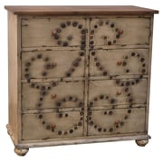 Crestview Charlotte 8 Drawer Button Chest
