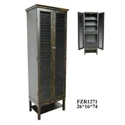 Crestview Wilmington Louvered Door Tall Cabinet